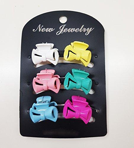 takestop Set 6 pièces cheveux pince pinces clip flocon colorées Pince Cheveux Plastique Accessoires enfant fille couleur aléatoire