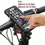 Supporto Bici Smartphone,Wirwave Supporto Manubrio Universale Bici Moto Impermeabile Marche Popolari Antiurto IPhone 6/6s(4.7inch) (nero)