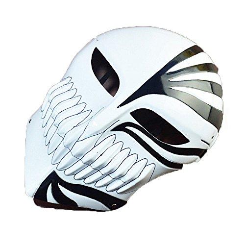 chtsmaske Gesichtsschutz Domino falsche Front Geister-Tanz-Maske weißer Horror Halloween Maske K3 ()