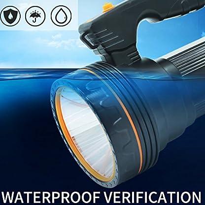 Ambertech Rechargeable 7000 Lumens Super Bright LED Searchlight Spotlight Flashlight Torch Lantern With Sharp Light 4