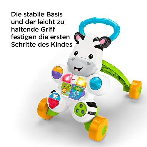 Fisher-Price DLD94 Zebra Lauflernwagen Lauflernhilfe mit Musik und Lichtern lehrt Buchstaben und Zahlen, ab 6 Monaten deutschsprachig - 8