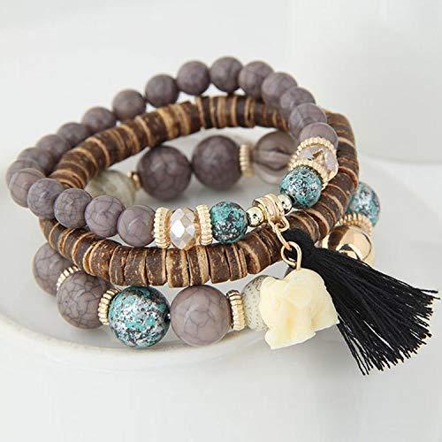 Small Elephant Charm Bracelets Set Vintage Style Jewelry Bracelets