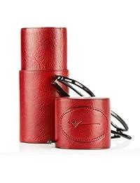 DRAGON - Etui à lunettes Cuir rouge Femme Homme Cadeau utile N124 - Rouge, Cuir