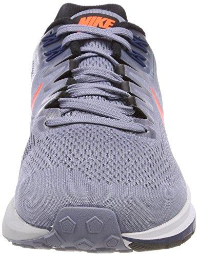 Nike Herren Air Zoom Structure 21 Laufschuhe Blau (Dark Sky Blue/total Crimson/black/navy 406)