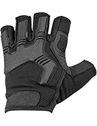 Highlander Men's Raptor Fingerless Gloves Black