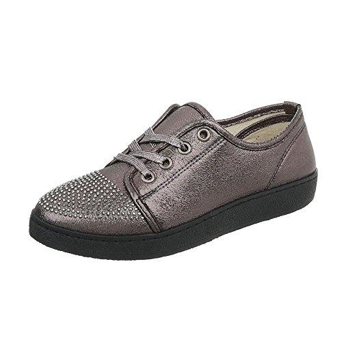 Ital-Design , Sneakers Basses homme - Noir - Noir, 45 EU