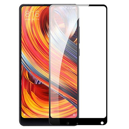 Preisvergleich Produktbild Interesting® Schwarz 9H Premium Full Cover Gehärtetem Glas Bildschirm Schutzfolie Für Xiaomi Mi Mix 2