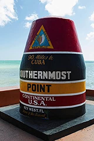 Southernmost Point in United States Marker Photo Art Print Poster