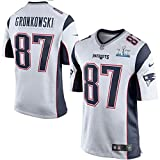 Men's New England Patriots Trikot 87 Rob Gronkowski White Super Bowl LII Jersey Size 40(M)