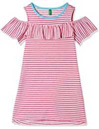 United Colors of Benetton Girls' A-Line Knee-Long Dress