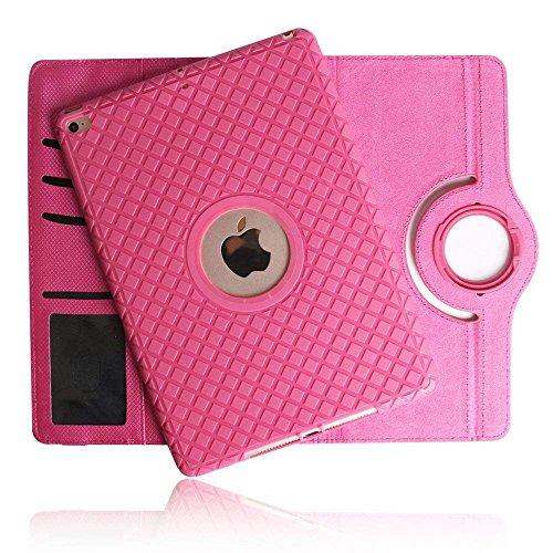 SorbSun iPad Mini 4Fall, 360Grad Drehbar Ständer Schutz Abnehmbare Weiche Silikon Smart Cover Case mit Dokument Kartenschlitzen für Apple iPad Mini 420,1cm Tablet, 7.9 inch, TPU-Hot Pink Hot Pink Tpu Case