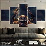 Marco modular HD cartel de fotos 5 unids Bleach personajes de Anime pintura para sala de estar decoración del hogar arte de la pared impresiones Lienzo de pintura
