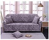 Chenyu elasticizzato divano Slipcover 1/2/3/4posti Easy Slip elastico di divano in tessuto poliestere antiscivolo Protezione copertura lavabile copertura di ricambio per divano, Silver Grey, 4 sedili