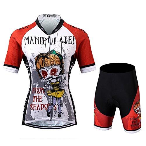 Thriller Rider Sports® Damen Manipuiated Sport & Freizeit MTB Fahrradbekleidung Radtrikot und Kurze Hose Anzüge X-Large
