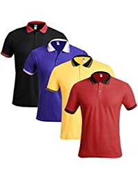 TSX- Men's Polo Neck Half Sleeves Casual T-Shirt For Men (Pack Of 4 )