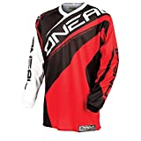 O'Neal Element MX Jersey RACEWEAR Trikot Rot Moto Cross Mountain Bike Enduro MTB DH FR, 0024R-3, Größe Small