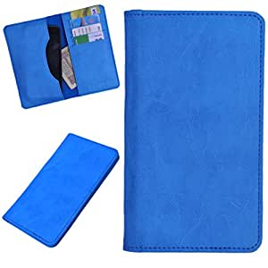 DCR Pu Leather case cover for XOLO A550s IPS (sky blue)