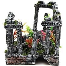 WYXIN Ruinas del templo romano Acuario Decoración Acuario Tanque Fish Hiding Cave Ornament23 * 16 * 13CM