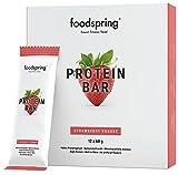 foodspring Protein Bar en paquet de 12, Yaourt Fraise, Une nouvelle recette, pour plus de saveurs,Fabriqué en Allemagne