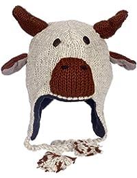 DIVERTENTE renna artigianale INVERNO LANA ANIMALE Cappello con fodera in  pile ed70ed7cc481