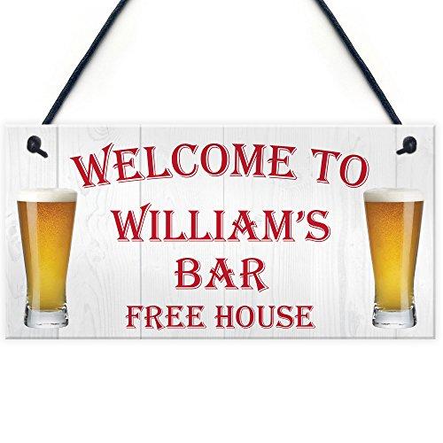 Red Ocean Personalised Pub Bar M...