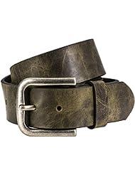 Ledergürtel Damen / Herren The Art of Belt, Vollrindleder casual unisex, 90107 oliv