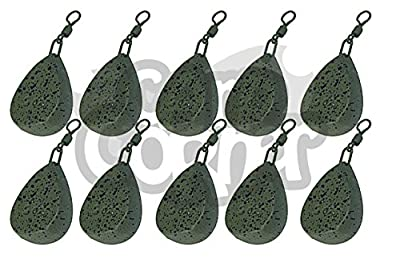 10 x Carp Fishing Tackle Weights 1.5oz 2oz 2.5oz 3oz 3.5oz Flat Pear Style Weight All Sizes (10 x 2.5oz Flat Pear) from NGT