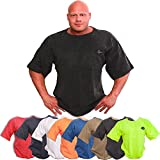 C.P. Sports Bodybuilding Shirt, Fitness, Freizeit, Sport Shirt, Ideal für Workout im Fitness Studio, schwarz, pink, hellgrau, dunkelgrau, Neongelb, rot, blau, orange