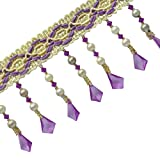 Dekorative Ribbon Upholstery Lila Vorhang Beaded Fringe Bastelbedarf von der