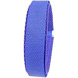 Minott Replacement Band Watch Band Textile Strap velcro blue 16mm