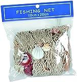 Out of the blue 830234 Fischnetz mit Muscheln, circa 100 x 200 cm,im Polybeutel zum Aufhängen
