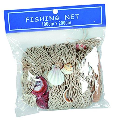 Out of the blue 830234 Fischnetz mit Muscheln, circa 100 x 200 cm,im Polybeutel zum (Kostüme Home Stoffe)