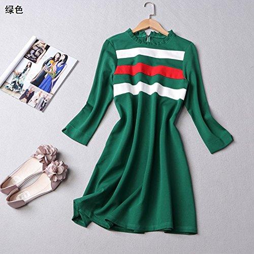 ripe Sleeved Kleider Werkseitig Zu Niedrig Preis Weiblich [L Code] [Grün] ()