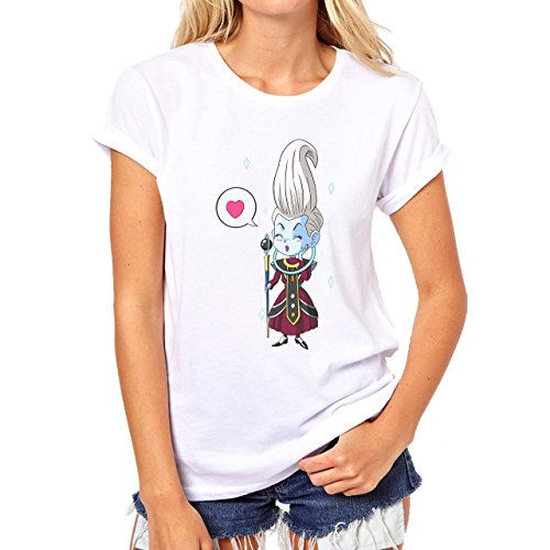 Dragon Ball Super Chibi Smile Love Damen T-Shirt Weiß