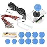 ZYOU Arcade Buttons Game USB Encoder PC Joystick Controller DIY Kit Zero Delay Project for Mame Jamma & Other PC Fighting Games Blue