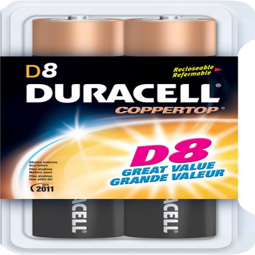 Coppertop Alkaline Batteries, D, 8/Pack - Coppertop Alkaline-batterien