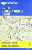 Straßenkarte Friuli Venezia Giulia: Straßenkarte Tabacco. 1:100000
