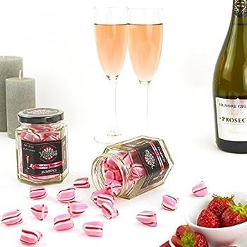 Wendy's Candies - Bonbon Humbugs - Cocktail FRAISE PROSECCO - Confiserie de fabrication artisanale - berlingot revisité - Joyeux Anniversaire - idée cadeau HAPPY BIRTHDAY - ref HSSP