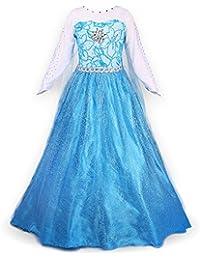 yuanyan fille robe princesse costume de reine des neiges pour enfants anniversaire