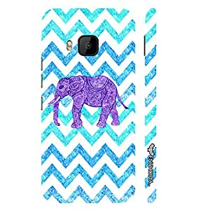 HTC One M9 Elephant Chevron designer mobile hard shell case by Enthopia