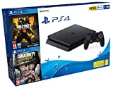 PlayStation 4 (PS4) - Consola 1 TB + COD Black Ops IIII + COD WW2