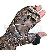 DD-Tackle Fleece Handschuhe für die Jagd oder zum Angeln