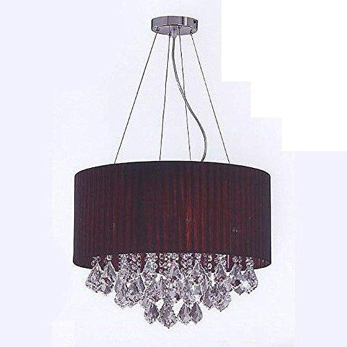 BJVB Luci Modern Dining Chandelier Soggiorno tessuto leggero cristallo Ombra Sfera di cristallo ciondolo luce (Acciaio Per Scale Ferroviaria)