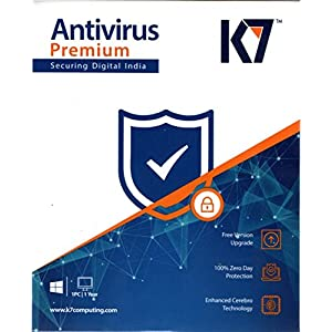 K7 Antivirus Premium- 1 User, 1 Year (CD) with Free Mobile Security for Android (6 months)
