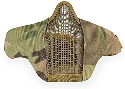 Tactical metal acciaio maschera per airsoft shooting paintball inferiore maschera protettiva