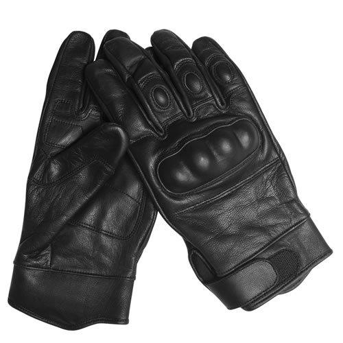 g8ds® Security Tactical Gloves Taktische Handschuhe Einsatzhandschuhe Leder Knöchelschutz schwarz S-XXL (M)