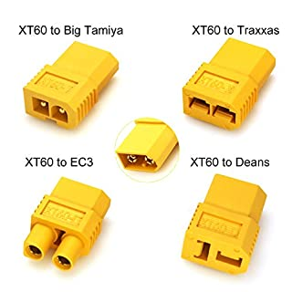 Amass XT60 Male to Deans T connector EC3 Traxxas Big Tamiya Plug Female Connector Converter Adapter For RC Lipo Battery Set