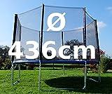 Outdoor Gartentrampolin Trampolin XL - 314 - 375 - 436 cm komplett inkl. Sicherheitsnetz und Leiter TÜV geprüft von AS-S, Größe:436cm