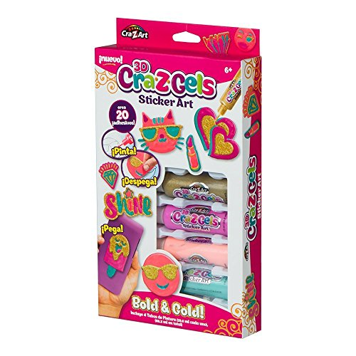 Cra-Z-Art - Set decoración 3D Bold & Gold + botes gel de colores (ColorBaby 85128)