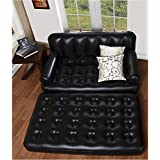 Naivete 5 In 1 Inflatable Sofa Air Bed Couch With Free Electric Pump